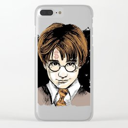 harry glasses potter Clear iPhone Case