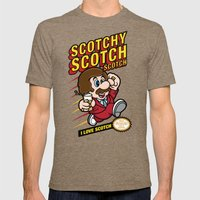 Super Scotchy Bros. MEDIUM Mens Fitted Tee Tri-Coffee