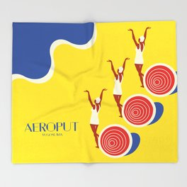 "EX-JU poster ""AEROPUT"" Throw Blanket"
