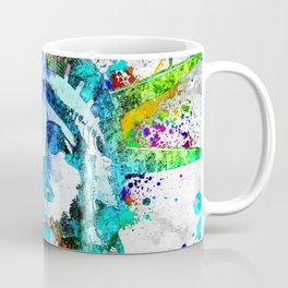 Statue of Liberty Grunge Coffee Mug