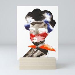 Dark Skinned Fashion Soldier Mini Art Print