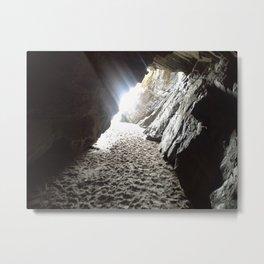 Light in Maghera Caves Ireland Metal Print