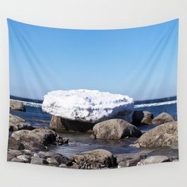 Perched on the Boulders Wall Tapestry