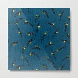 Fireflies in a field Metal Print