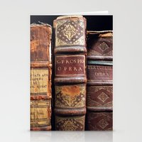 library Stationery Cards featuring Library by Mad Marys