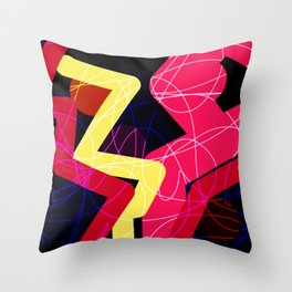 Night Time Bowling Throw Pillow