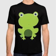 Green Frog Mens Fitted Tee MEDIUM Black