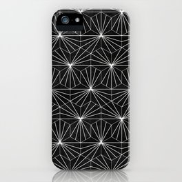 Hexagonal Pattern - Black Concrete iPhone Case