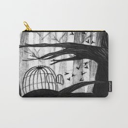 Birdcages Carry-All Pouch