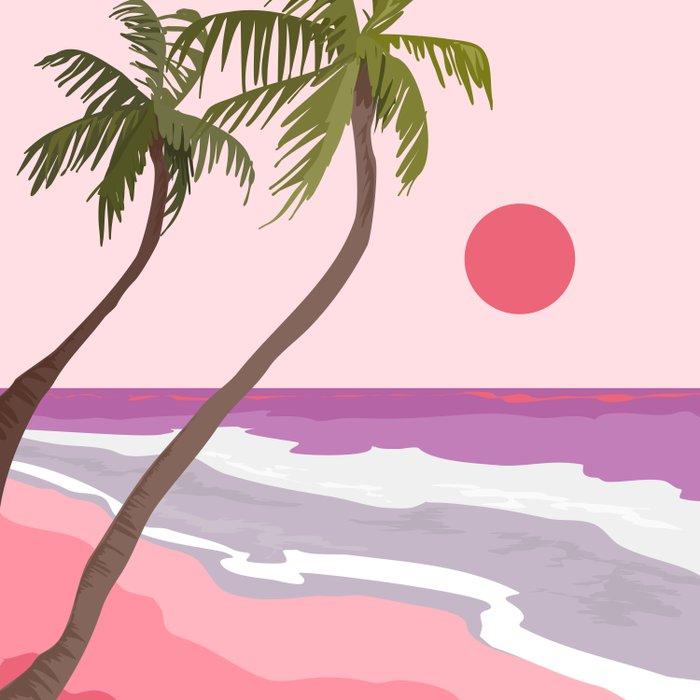 Tropical Landscape 01 Duvet Cover