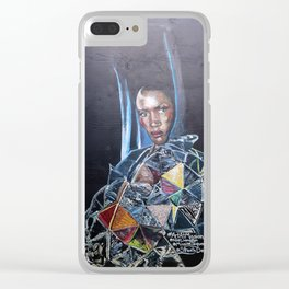 Grace Jones Mural Clear iPhone Case