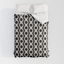 Retro-Delight - Conjoined Circles - White Comforters