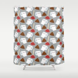 Toilet pattern Shower Curtain
