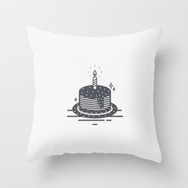 Cake decorated with stars Throw Pillow