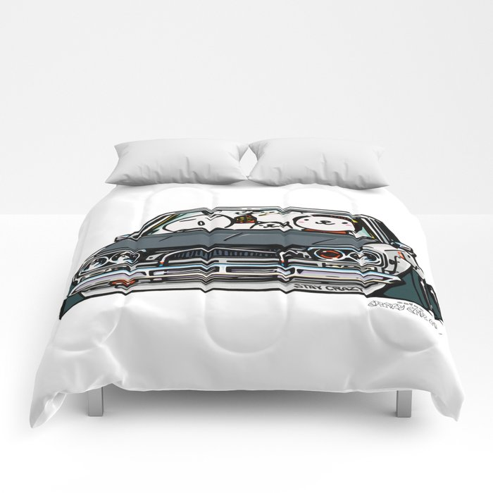 Crazy Car Art 0157 Comforters