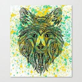 Tribal Wolf Canvas Print