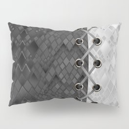 Lacing . 1 . Black and white snake. l Pillow Sham