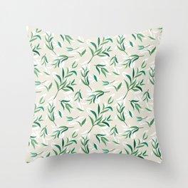 Tea Tree Leaves Throw Pillow