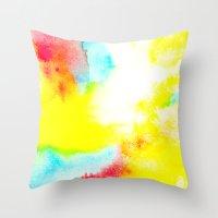 rio Throw Pillows featuring Rio by elena + stephann