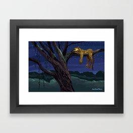 Leopard - Night Framed Art Print