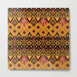 Yellow plaid. The creative pattern . Metal Print