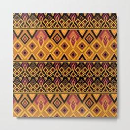 Yellow plaid. The creative pattern . Metal Print