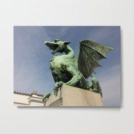 geen dragon illustration Metal Print