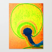 afro Canvas Prints featuring afro by Davey Charles