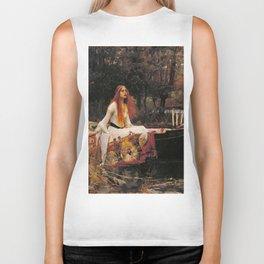 John William Waterhouse The Lady Of Shalott Biker Tank