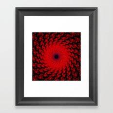 Red Space Spiral Fractal  Framed Art Print