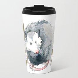 Possum and Oak Leaves Travel Mug