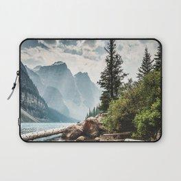 moraine lake in alberta Laptop Sleeve