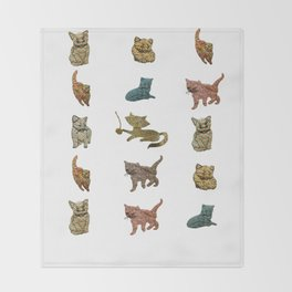 Kitty Kitty Throw Blanket