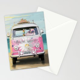 Pug Girly Adventure Peace Stationery Cards