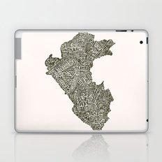 Lettering map of Perú Laptop & iPad Skin