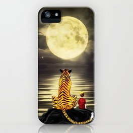 both with bright moon iPhone Case