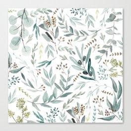 Eucalyptus pattern Canvas Print