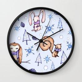 Blizzard Blues Wall Clock