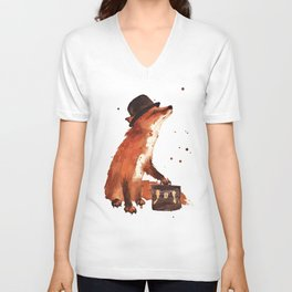 Downtown Fox Unisex V-Neck