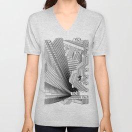 History of Art in Black and White.  Pop Art Unisex V-Neck