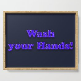 Wash your Hands BLUE Serving Tray