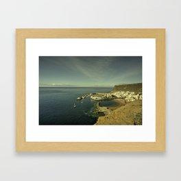 Puerto de Mogan  Framed Art Print