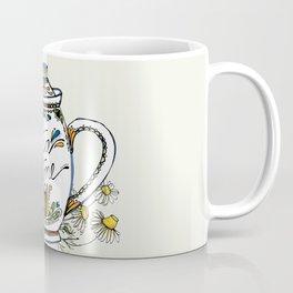 Tea Time in Blue Coffee Mug