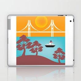 San Francisco, California - Skyline Illustration by Loose Petals Laptop & iPad Skin