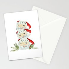 Vintage santa mug stack Stationery Cards