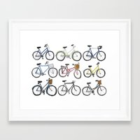 bicycles Framed Art Prints featuring Bicycles by Bianca_CS