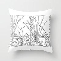 desert Throw Pillows featuring Desert by Abundance