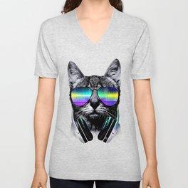 Dj Cat Unisex V-Neck