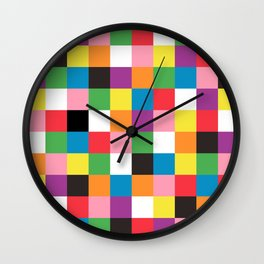 Colored squares Wall Clock