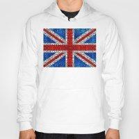 british flag Hoodies featuring British Flag - Brittain England Stone Rock'd Art by Sharon Cummings